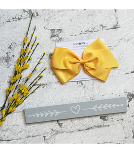 Double Bow Yellow Band