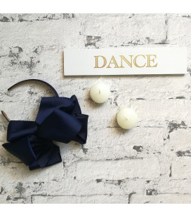 Mega Bow Navy Alice Band