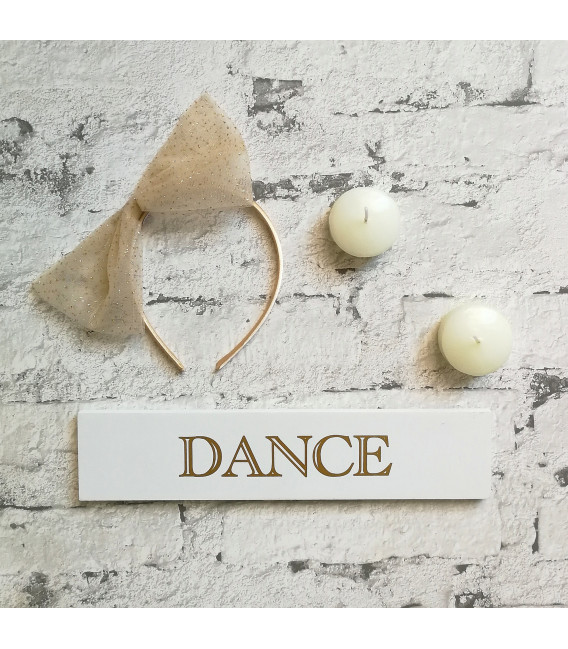 Tulle Gold Bow Alice Band