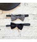 Black-Checked Bowtie