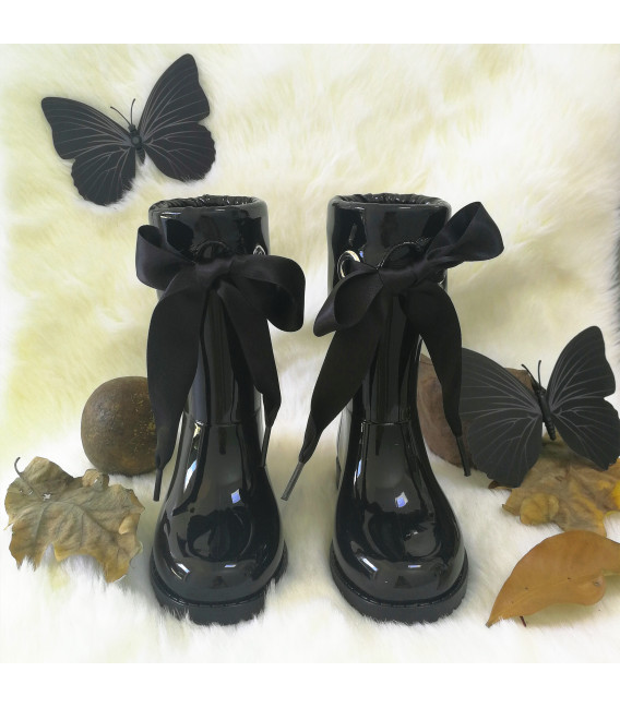 Lilly Black Gumboots