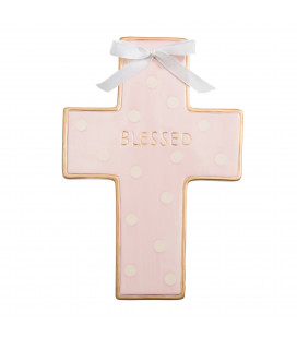 Pink Ceramic Cross