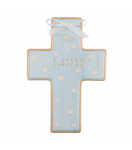 Blue Ceramic Cross