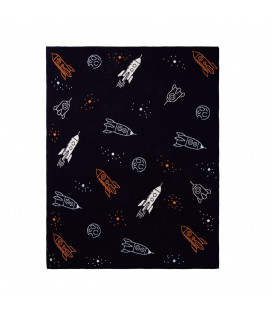 Rocket Navy Blanket