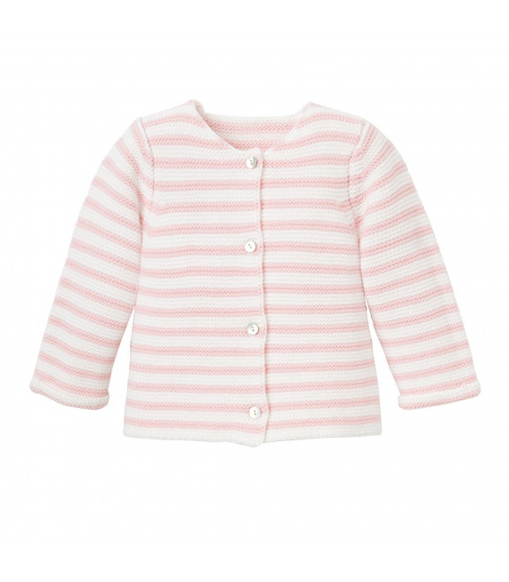 EB Pink Striped Cardigan
