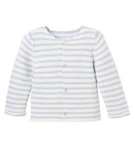 EB Blue Striped Cardigan