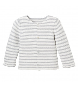 EB Grey Striped Cardigan