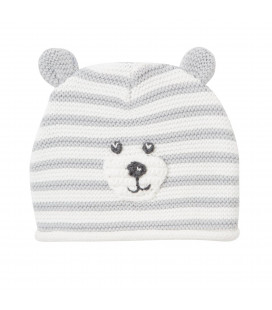 Grey Striped Beanie