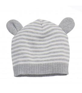 Grey Striped Hat