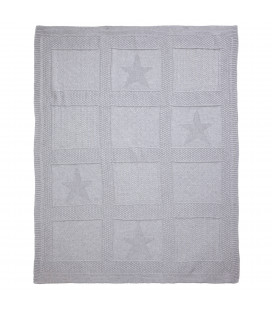 Star Grey Knit Blanket