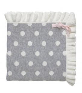 Grey Dot Blanket