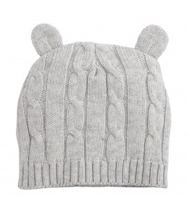 Grey Cable Beanie