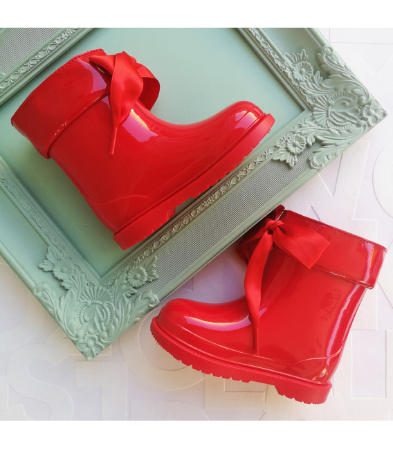 Becky Red Gumboots