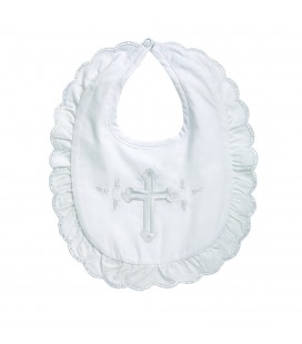 Baby Girl Christening Bib