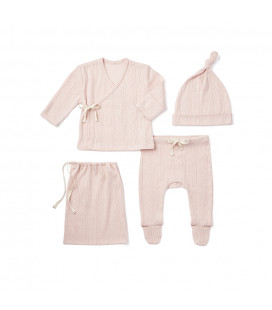 Pink Pointelle Layette Gift Set