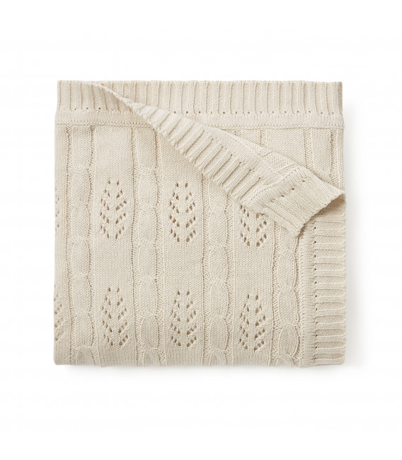 Wheat Leaf Cable Blanket
